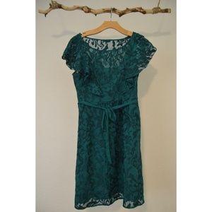 Teal Anthropologie Dress